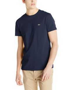 ae512d0c Lacoste Short Sleeve Jersey Pima Regular Fit Crew Neck T- Shirt - Mens Crew  Neck