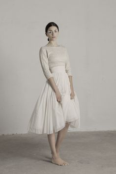 Lo que hablábamos de sencillo Top Bucol. Falda Peonia. Cortana Bridal Collection. #WeddingFashion #WeddingDress #Brides