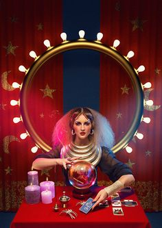 "CIRQUE de SHUZ : Act 2 : ""The Fortune Teller""Concept & Photography Dennis VeldmanStyling by Lisa Schuil & Dennis VeldmanMake-up & Hair Sanne BleekerNails by Rilana ValkLighting Technician Hyung BalkemaPost Processing and Graphic Design Ludw… Dark Circus, Circus Art, Circus Theme, Creepy Circus, Halloween Circus, Creepy Carnival, Carnival Ideas, Photoshoot Idea, Circus Aesthetic"