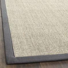 Indoor Hand-woven Serenity Marble/Grey Sisal Rug (4' x 6') | Overstock.com Shopping - Great Deals on Safavieh 3x5 - 4x6 Rugs $85 at door