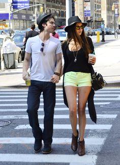 Ian Somerhalder and Nina Dobrev hit the streets in NYC.