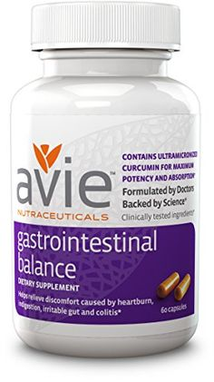 Avie® Gastrointestinal Balance [60 capsules] - Water-Soluble Curcumin Formulated for Maximum Absorption and Bioactivity - NO Piperine! * You can get more details by clicking on the image.