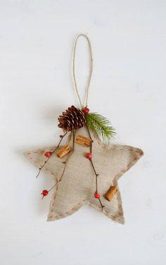 Stella Stellina Di Natale.Decorazioni Di Natale Stellina In Pannolenci Creazioni Di Natale