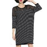 $24.99 3/4 Sleeve Stripes Gauze Loose Dress Sold on Amazon