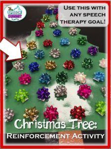 Christmas Tree Reinforcement Activity for Speech Therapy. The Speech Summit, 2016.
