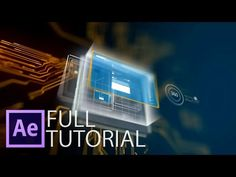 After effects futuristic 3d scene from 2d image - YouTube