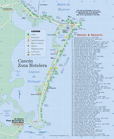 cancun hotels map