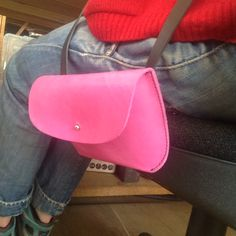 Little pink pouch bag by wolfram Lohr