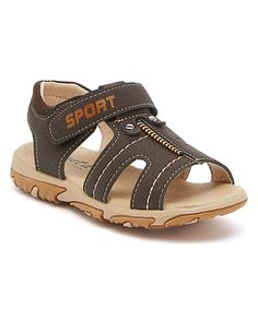 Love this Ameta Dark Brown Contrast Stitch Sandal by Ameta on #zulily size 7