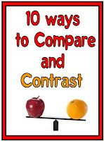 10 Ways to Compare and Contrast www.minds-in-bloo. Teaching Language Arts, Speech Language Therapy, Teaching Writing, Speech And Language, Teaching Tools, Teaching English, Teacher Resources, Teaching Ideas, Speech Therapy