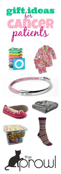 What thoughtful or practical gift ideas do you have for cancer patients? Click over to The Prowl to add your ideas and see others' ideas: http://www.theprowl.com/question/184250/gift_for_someone_undergoing_cancer?utm_source=pinterest&utm_content=theprowl