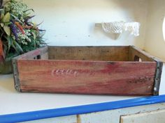Hey, I found this really awesome Etsy listing at http://www.etsy.com/listing/123930254/1-red-wood-coke-crate-primitive-coca