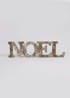 Noel Wooden Words Sign (36cm x 2cm x 10cm) View 1