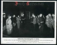 orig. WWII Press Photo - Hitler receives Italian party delegation in Berlin 1942 - Date of publication: Feb. 02, 1942