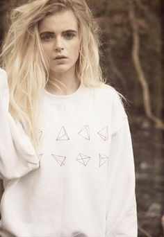 Hand Painted Pyramid Cardigan from We Are Hairy People