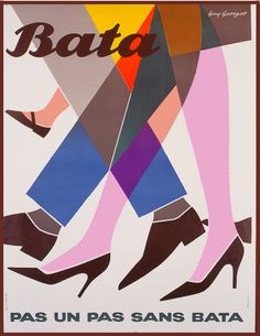 """Pas un pas sans Bata"" (not a step without Bata), Guy Georget, undated"