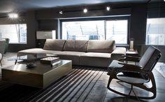 BAXTER paola navone canapé cuir mobilier contemporain Lyon