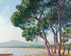Der Strand bei Juan-les-pins. 1888  www.tapeterie.de