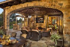 Love the outdoor living space minus the T.V.!