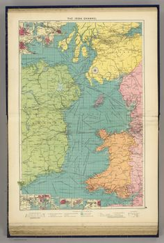 C 1955 standard time map world map lithograph original map irish channel 1922 this map illustrates the many shipping links between ireland and britain gumiabroncs Gallery