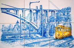Azulejos / Glazed Tiles with a Lisbon view - Portugal