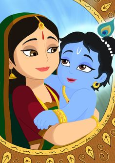 hare krsna everyone. This is a tribute painting for this month. as its the most auspicious month for spiritual seekers. Digital Paint: Cute Krsna with Yashoda mai Krishna Drawing, Krishna Painting, Madhubani Painting, Indian Paintings On Canvas, Easy Paintings, Little Krishna, Cute Krishna, Krishna Leela, Krishna Radha