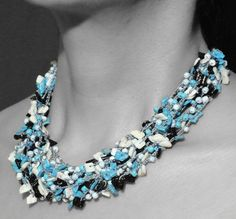 A striking necklace by BRizzy's collection is fit for you. Turquoise Necklace, Fit, Projects, How To Wear, Collection, Jewelry, Look, Fashion, Jewellery Making