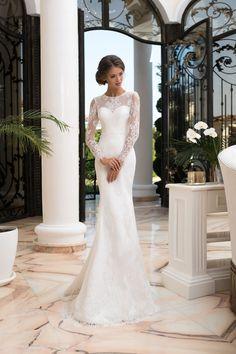 3a4c3e8d7d Jednoduché luxusné priliehavé svadobné šaty Svadobné Šaty