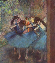 Edgar Degas ~ Danseressen in het blauw ~ 1890 ~ Olieverf op doek ~ 85 x 75,5 cm. ~ Musée d'Orsay, Parijs