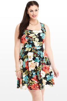 Floral Flare Dress - Fashion to Figure! $38.50