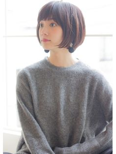 Un ami【HIRA】 大人可愛い小顔ショートボブ サイド Asian Short Hair, Asian Hair, Short Hair Cuts, Short Hair Styles, My Hairstyle, Pretty Hairstyles, Bob Hairstyles, Cut My Hair, Love Hair