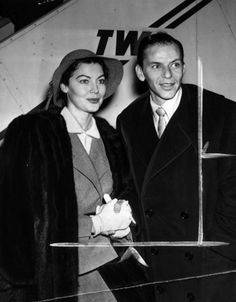 Ava Gardner and Frank Sinatra head for London in 1951