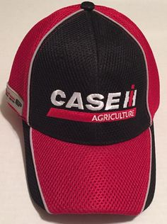 Case IH Agriculture Hat Black Red Ag Equipment Efficient Power One Size   Unknown  BaseballCap 857d8561265d
