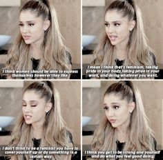 She stands up for women at every possible turn. | 22 Times Ariana Grande Was Actually Pretty Damn Surprising