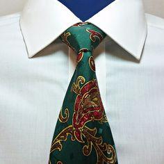 Lavatelli 100% Silk Tie Green Paisley Mens Necktie Made In  Canada #Lavatelli #NeckTie