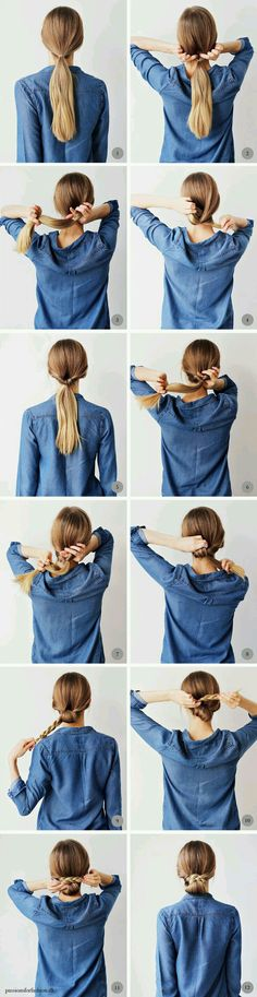 Interesting option to try for vintage days! This is cute but I don't think my hair will ever get long enough to do it.