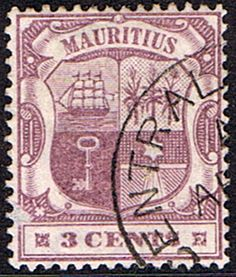 Mauritius Stamps 1895 Coat of Arms SG 129 Fine Used Scott 95 Other Asian and British Commonwealth Stamps HERE!