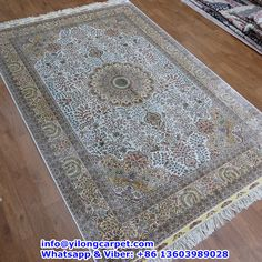 A20 6'x9' 400kpsi Double Knots Persian Rug Made By Yilong. Basic Color: White, Red, Yellow, Light Green,Light Blue,Light Brown ect. Medallion Design. Fower Pattern. Yilong Carpet including Persian Rug; Oriental Rug; Turkish Rug; Antique Rug,Anbusson, Bijar Rug, Chinese Rug, Eilan Rug, Hand Knotted Rug, Handmade rug, Isfahan Rug, Kashan Rug, Kashmir Rug, Kerman Rug, Nain Rug, Qum Rug, Sarouk Rug, Silk Rug, Tabriz Rug, Vintage Rug