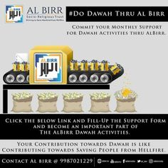 Dawah thru Al Birr Commit your Monthly Support for Dawah Activities thru Al Birr. Click the below Link and Fill-Up the Support Form and become an important part of The Al Birr Dawah Activities. Mumbai, Activities, Bombay Cat