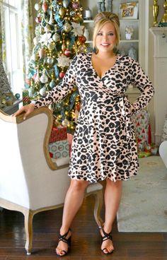 Side Show Leopard Print Wrap Dress - Pink Plus Size Sundress, Plus Size Dresses, Plus Size Outfits, Modest Dresses, Casual Dresses, Wrap Dresses, Perfectly Priscilla Boutique, Casual Summer Outfits For Women, Voluptuous Women