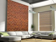 Brick Wall Distressed wall mural living room preview