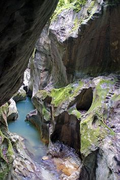 Gorges du Pont-du-Diable (Devil's Bridge Canyon) - a stop on our eagerly anticipated drive through the French Alps