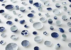 A range of porcelain with patterns that play on designs from a traditional Japanese pottery, by Japanese studio Nendo. The Ume and Karakusa collections are all Porcelain Jewelry, Porcelain Ceramics, Ceramic Pottery, Ceramic Art, White Ceramics, Slab Pottery, Fine Porcelain, Ceramic Bowls, Japanese Porcelain