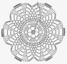 Home Decor Crochet Patterns Part 64 - Beautiful Crochet Patterns and Knitting Patterns Crochet Table Runner Pattern, Crochet Doily Diagram, Crochet Motif Patterns, Crochet Squares, Crochet Chart, Love Crochet, Beautiful Crochet, Crochet Designs, Crochet Doilies