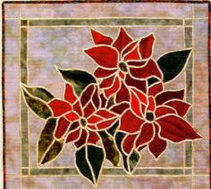 Stained Glass Poinsettia Quilt Pattern by Bayou Patch Designs