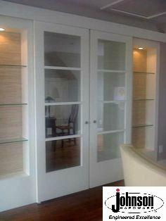 Wall Mount Door Hardware to use for interior barn doors...idea for sliding door and shelves