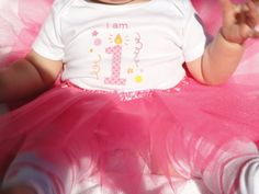 Baby Girl Ballet First Birthday Outfit Tutu by Fabric2Fashion, $32.00