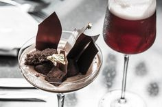 The Beer Sommelier at Cafe Belge, The Ritz-Carlton, Dubai International Financial Centre suggests pairing strawberries and chocolate the Belgian way; strawberry beer with Belgian chocolate mousse, topped with brownie chunks.