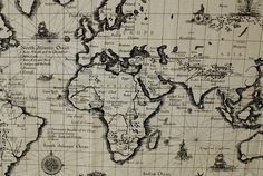 COMEBACK  Antique The MAP of World Wide in A Yard by UniqueShiny, $19.98