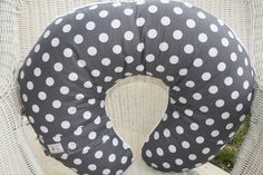 Dark Gray Dots with Minky Boppy Cover by DesignsbyChristyS on Etsy https://www.etsy.com/listing/93823621/dark-gray-dots-with-minky-boppy-cover